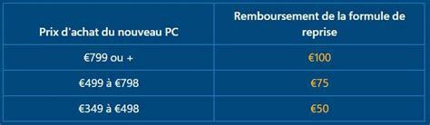 reprise ordinateur de bureau microsoft reprend votre ancien pc jusqu 224 100 contre un nouveau sous windows 10 ou 8 1
