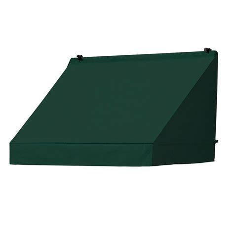 awnings box ft classic manually retractable awning projection forest green