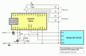 Arduino Schaltplan Editor : nano scope oszilloskop mit arduino und graphic lc display ~ Haus.voiturepedia.club Haus und Dekorationen