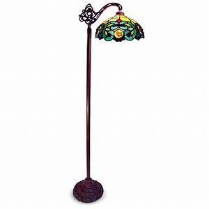 tiffany style side arm stained glass floor lamp 219670 With tiffany style floor lamp with side light