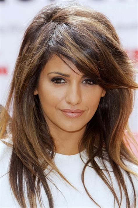 medium length hairstyles with bangs 2014