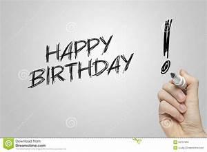 Hand Writing Happy Birthday Stock Photo - Image: 52157909