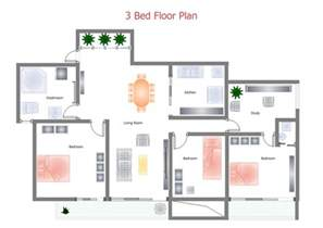 Simple Houses Bedroom Placement by Building Plan Software Edraw