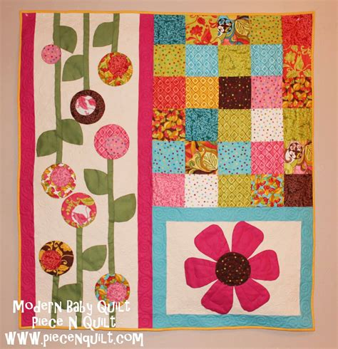 Patchwork Muster Modern by N Quilt Modern Baby Quilt Tutorial