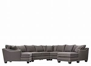 Foresthill 5 pc microfiber sectional sofa slate for 5 pc microfiber sectional sofa