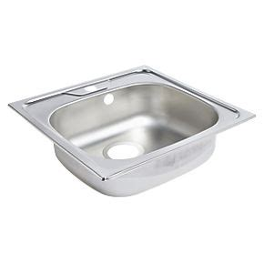 screwfix kitchen sinks single square sink with tap s s satin sinks 2130