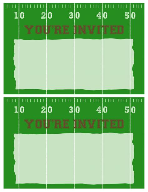football party invitation template  printable