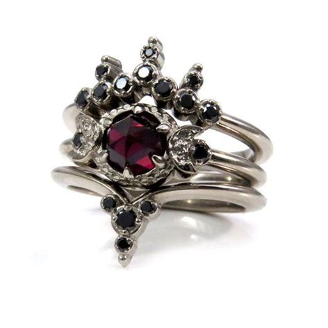 gothic wedding rings ideas  pinterest date