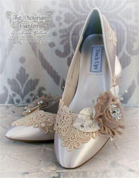 shabby chic wedding shoes seraphina vintage lace shabby chic ivory and by thevictoriangarden wedding pinterest