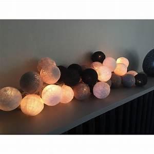 Guirlande Boule Coton : guirlande lumineuse 20 boules ~ Teatrodelosmanantiales.com Idées de Décoration