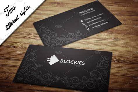 decorative business card template business card