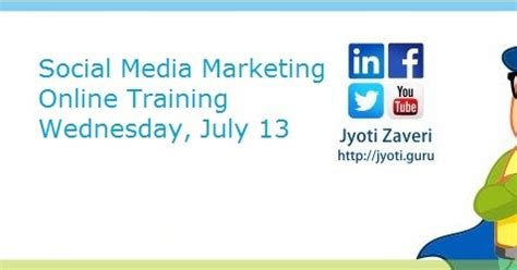 social media marketing certification free social media marketing by jyoti webinar social media