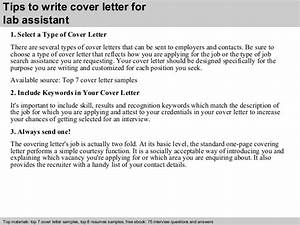 lab assistant cover letter With cover letter for lab assistant with no experience
