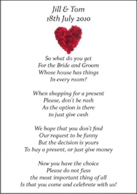 wedding money poems    designs honeymoon wishing