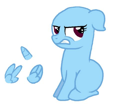 Mlp Base Angry Filly By Loppiepiepie On Deviantart