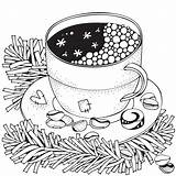 Coloring Winter Pages Printable Puzzle Adult Themed Activity Coffee Sheets Adults Colouring Print 30seconds Christmas Mom Printables Tip Rocks Shutterstock sketch template