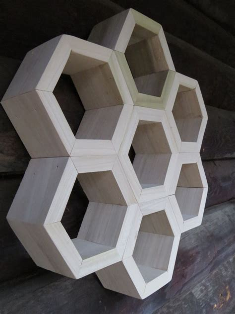 honeycomb set   hexagon shelves custom display