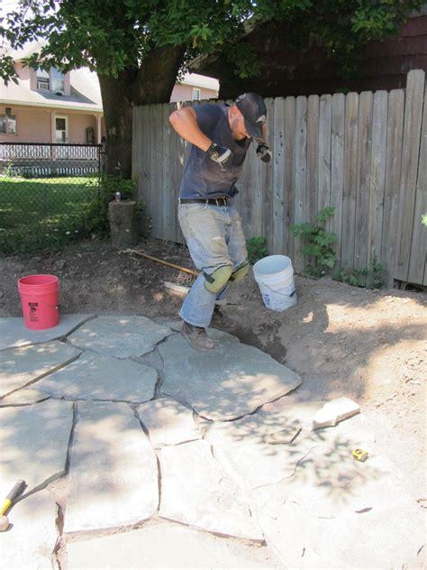 diy flagstone patio set how to install a flagstone patio with irregular stones