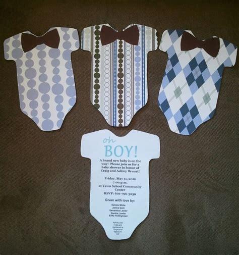 homemade baby shower invitations