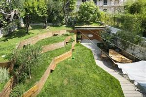 murs de soutenement en bois amenagez un jardin en pente With amenagement jardin sans pelouse 8 allee de jardin originale comment amenager son jardin