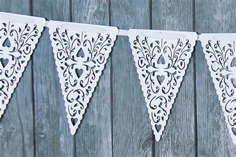 buy  flags white paper lace laser