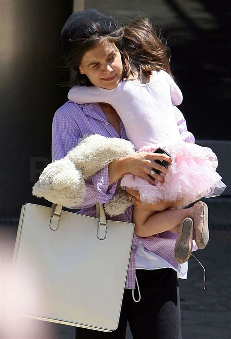 katie holmes  suri cruise leaving  dance