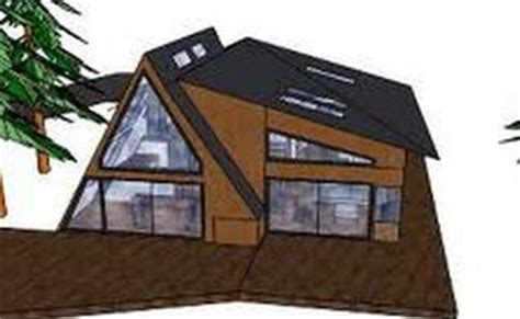 frame addition modern cabin  frame house plans  frame house modern cabin