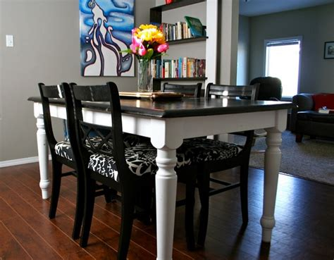 refinished top black oak table and chairs home interiors