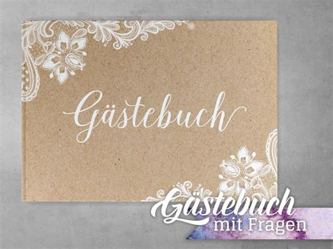 gaestebuch kraftpapier spitze mit fragen papermaid