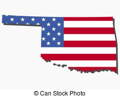 state  oklahoma flag map isolated   white background