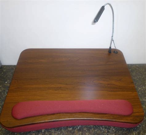 new sofia and sam lap desk w usb light and padded wrist