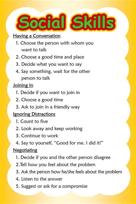 social skills poster 3 of 3 conversation