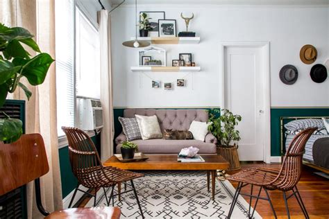 a small studio apartment gets a large dose of function and