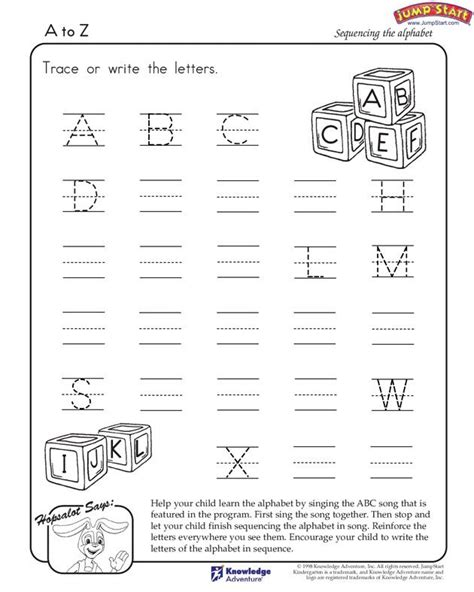 a to z english worksheets for kindergarten jumpstart early years english worksheets for