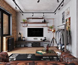 Eclectic Bachelor Retreat by 3 Stylish Industrial Inspired Loft Interiors