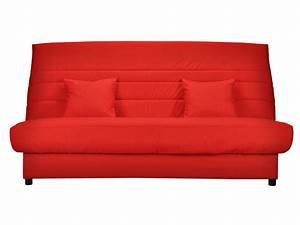 Banquette Lit Pas Cher : banquette lit clic clac alice coloris rouge banquette conforama ventes pas ~ Teatrodelosmanantiales.com Idées de Décoration