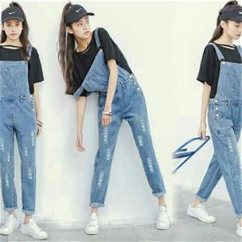 setelan dewasa panjang baju jumpsuit denim panjang model terbaru murah