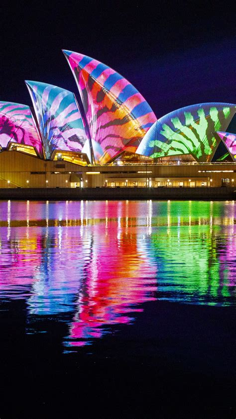 wallpaper opera house sydney australia night