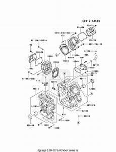 Kawasaki Fd750d Crankcase