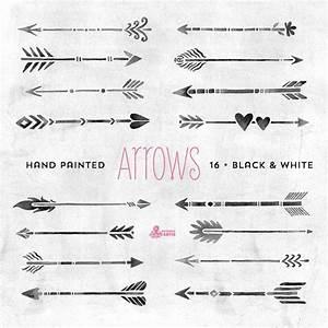 Tatouage Fleche Signification : white black arrows clipart tribal native diy elements ~ Farleysfitness.com Idées de Décoration
