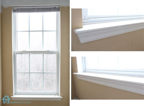 How To Frame A Window Sill by How To Install Window Trim Pretty Handy