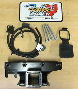 2007 2017 jeep wrangler jk trailer tow hitch receiver 4 way wiring kit cover ebay
