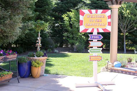 diy carnival sign evite