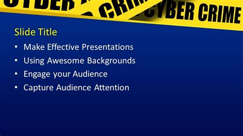 cybercrime powerpoint template powerpoint