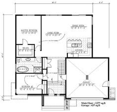 Contemporary Style House Plan 99943 with 2 Bed 2 Bath