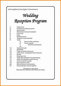 wedding reception order of events program reception With wedding reception ceremony order