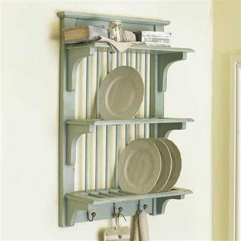 rustic wall plate rack  hooks  dibor notonthehighstreetcom