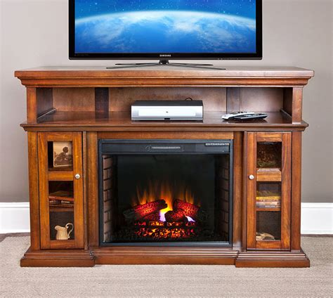 fireplace entertainment center 60 quot pasadena burnished walnut electric fireplace 3748