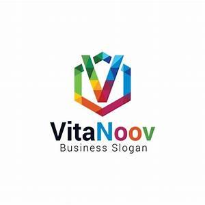 Colorful letter v logo Vector | Free Download