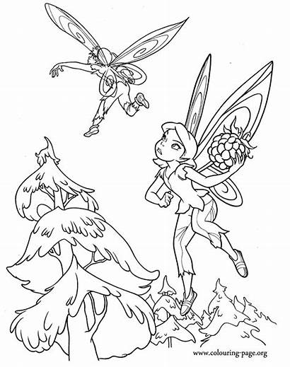 Tinkerbell Coloring Bell Pages Tinker Fairy Scene